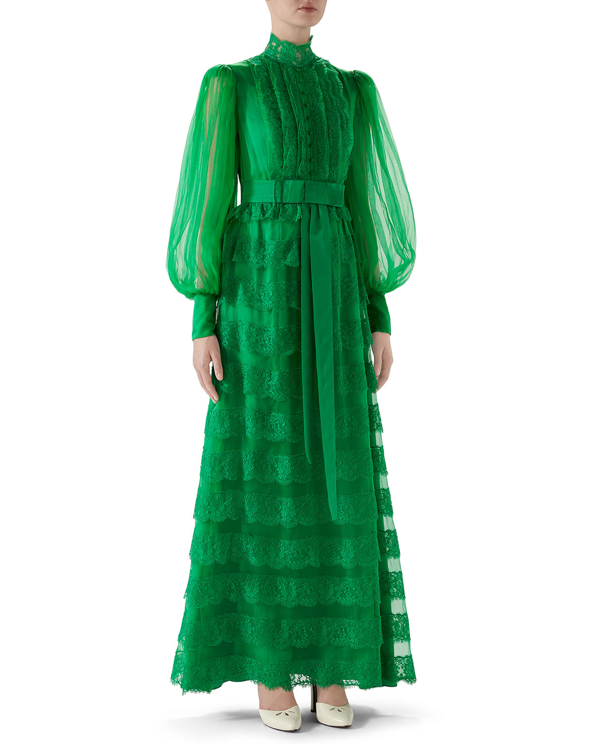Gucci Dresses FULL-SLEEVE LIGHTWEIGHT ORGANZA DRESS