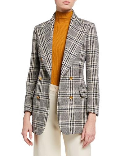 Checked Wool Plaid Blazer