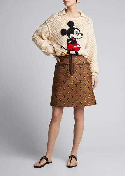 x Disney Mickey Mouse Canvas Skirt