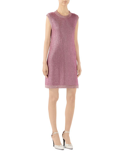 Sparkling Knit Shift Dress