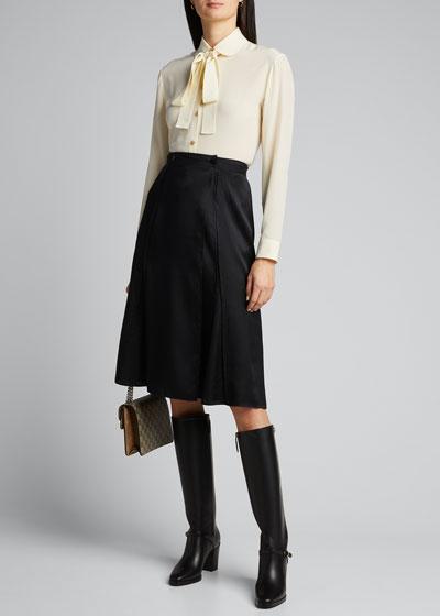 Vintage Silk Button-Front Blouse
