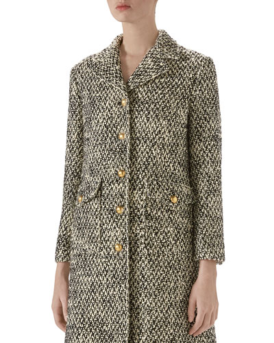Tweed Marmont Coat with Golden Buttons