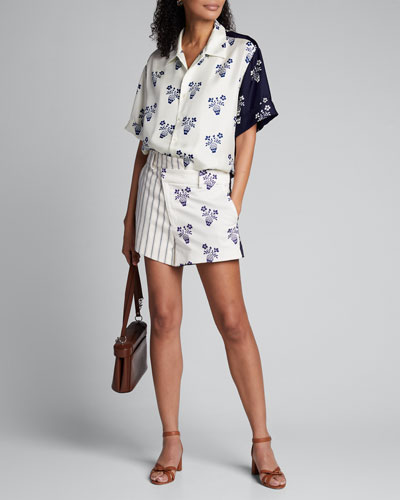 Flower Pot & Striped Shorts