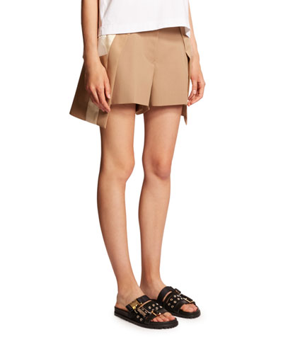 Asymmetric Layered Shorts