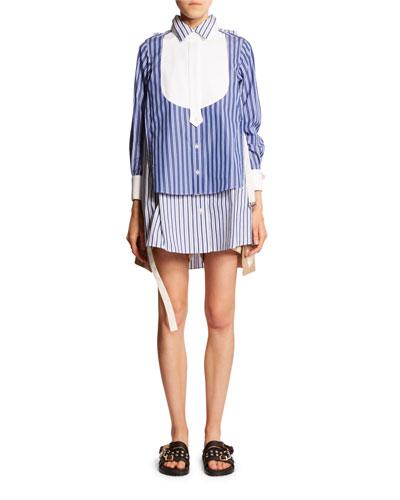 Oversized Mix-Striped Shirt