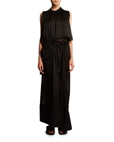 Ruched Cutout Maxi Dress