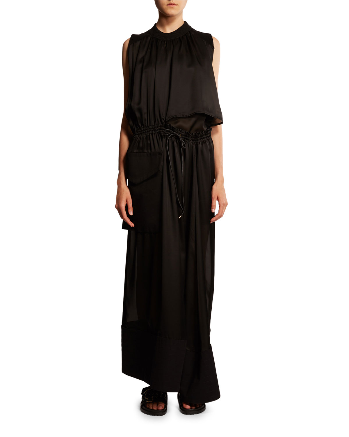 Sacai Dresses RUCHED CUTOUT MAXI DRESS