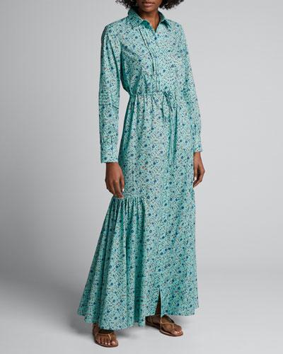 Rosalie Floral-Print Maxi Shirtdress