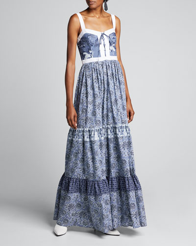 Jemma Printed Tiered Dress