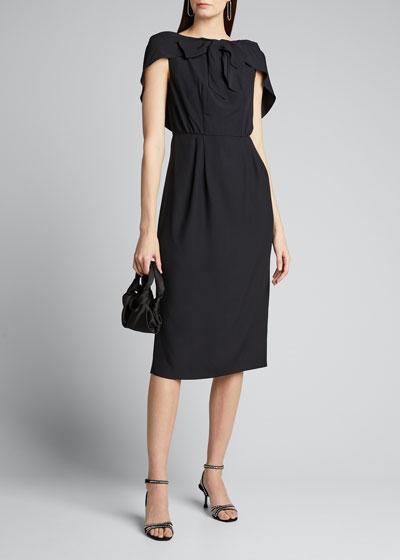 Bowed Capelet Dress