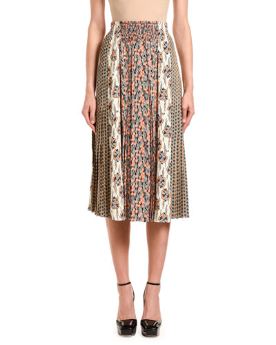 Buttercup Patchwork Pleated Skirt
