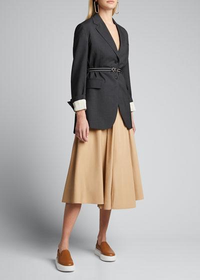 Oversized Wool Suiting Jacket