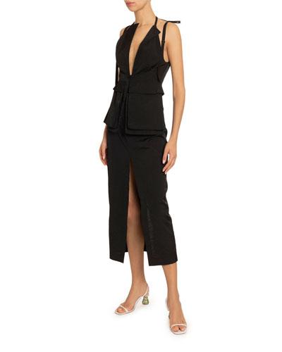La Ascea Utility Pocket Dress