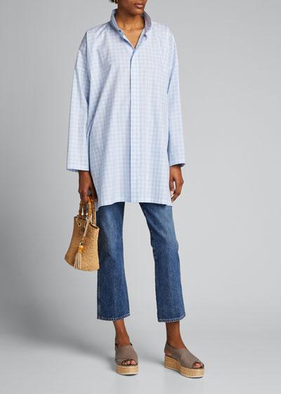 Cotton Wide A-Line Shirt