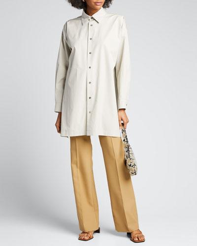 Cotton Slim A-Line Shirt