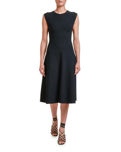 Sleeveless Compact Knit A-Line Dress