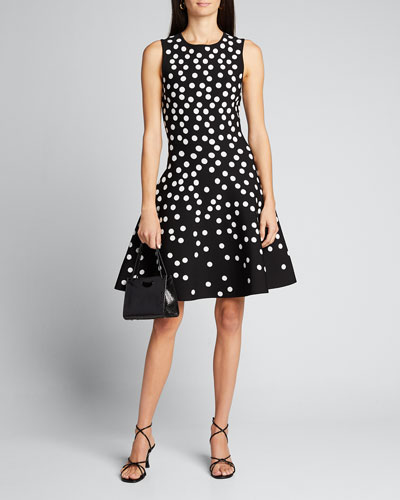 Polka Dot Fit-&-Flare Dress