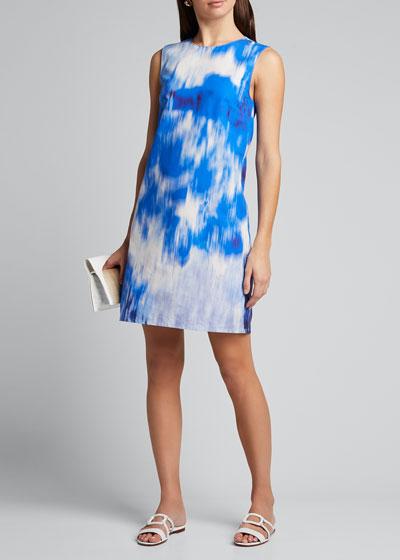 Tie-Dye Sleeveless Shift Dress