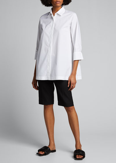 Denny Cotton 3/4-Sleeve Shirt