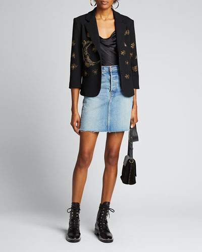 Sun & Moon Beaded Blazer
