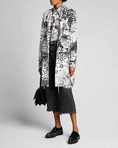 Modern Toile Duster Coat