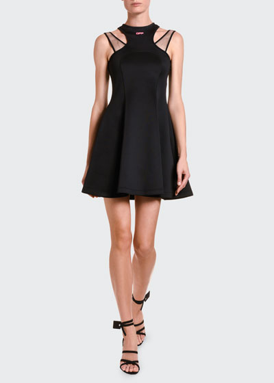 Jersey Double-Strapped Fit & Flare Dress