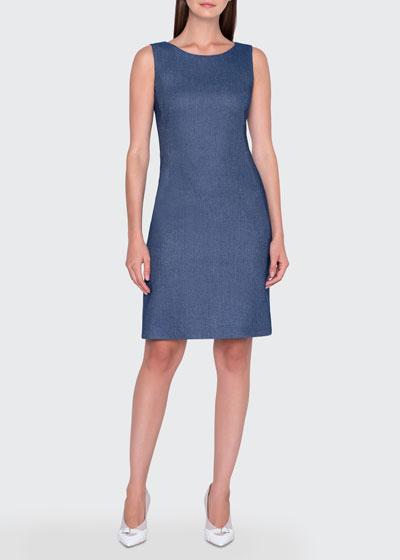 Wool-Cotton Pique Dress