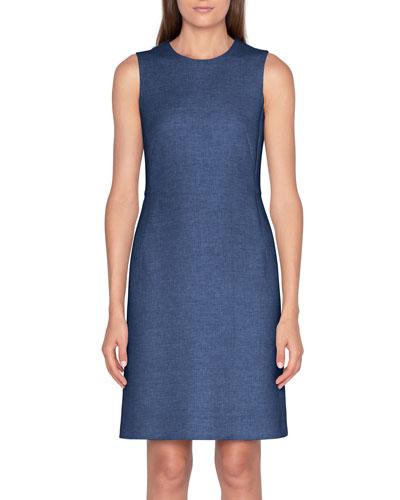 Linen-Cotton Skimmer Dress