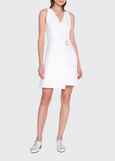 Asymmetric Faux-Wrap Dress