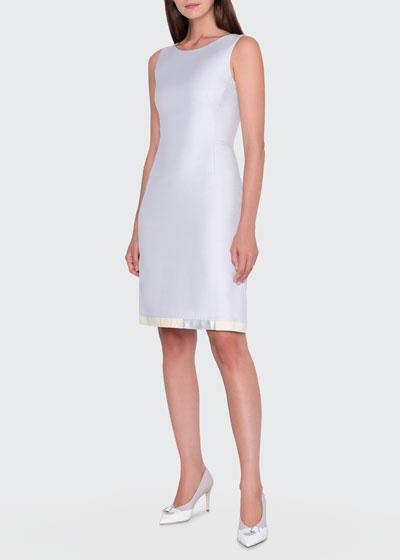 Cotton-Silk Sheath Dress