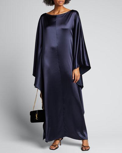 Astrid Satin Caftan Dress