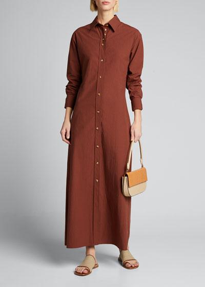 Nye Long-Sleeve Maxi Shirtdress