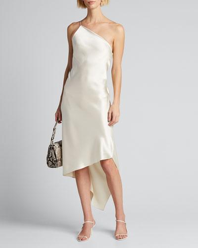 Guinevere Asymmetric One-Strap Dress