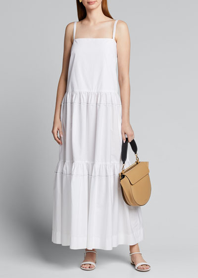 Cotton Tiered Ruffle Maxi Dress