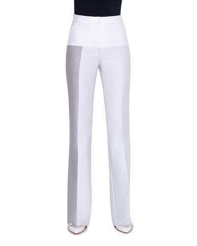 Cotton-Silk Double-Face Pants