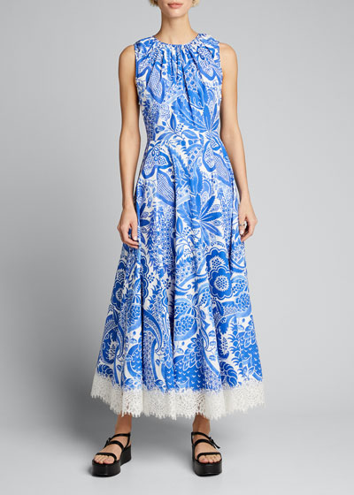 Embroidered Floral-Edge Dress