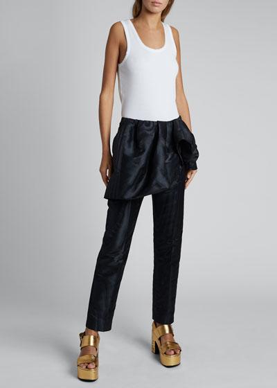 Patiar Fold-Over Linen/Cotton Pants