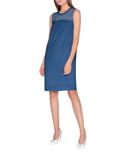 Ladder-Stitched Jacquard Dress