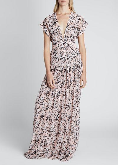 Short-Sleeve V-Neck Dress