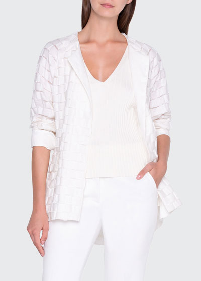 Basketweave Cocoon Jacket