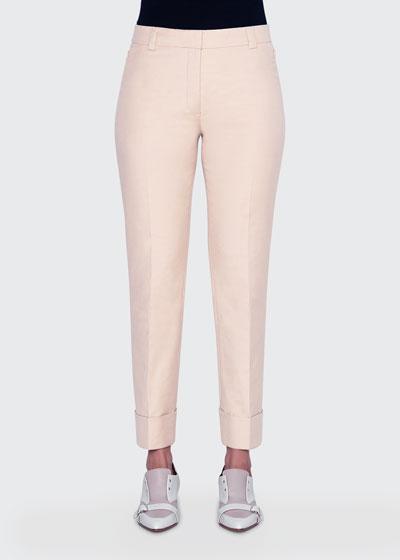 Maxima Cuffed Slim-Leg Pants