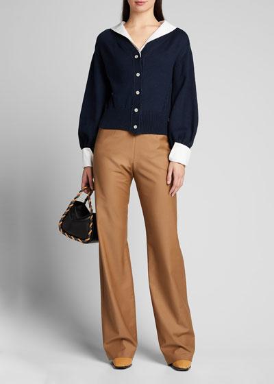 Chunky-Knit Convertible Cardigan