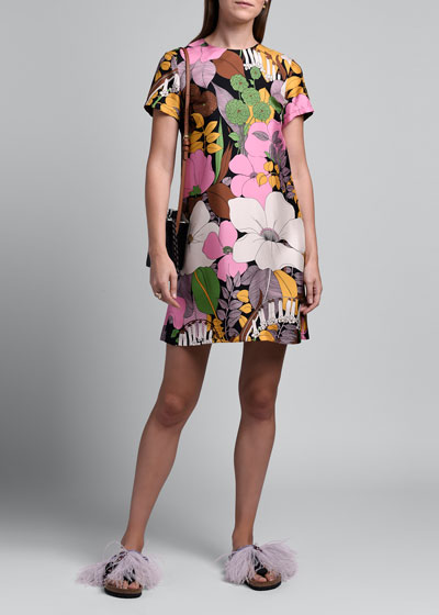 Floral Mini Swing Dress