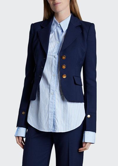 Bowden Stretch-Wool Blazer Jacket