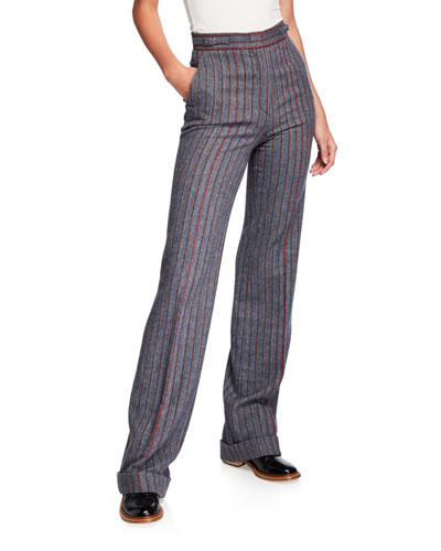 Shipton Herringbone Stretch Wool-Cashmere Trousers