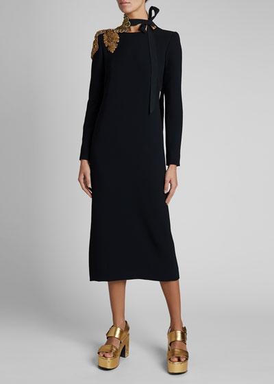 Daia Embellished-Shoulder Dress
