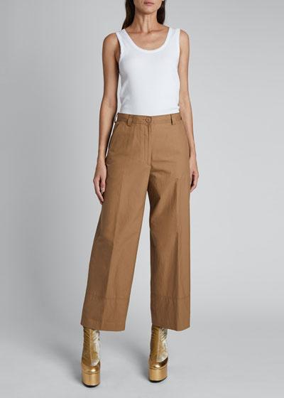 Paroval Cropped Cotton Pants