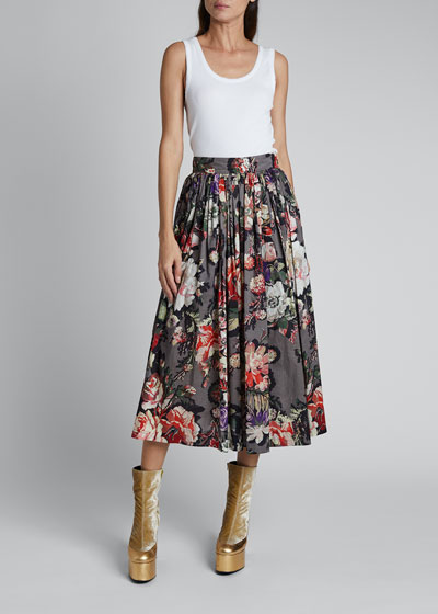 Sita Pleated Midi Skirt