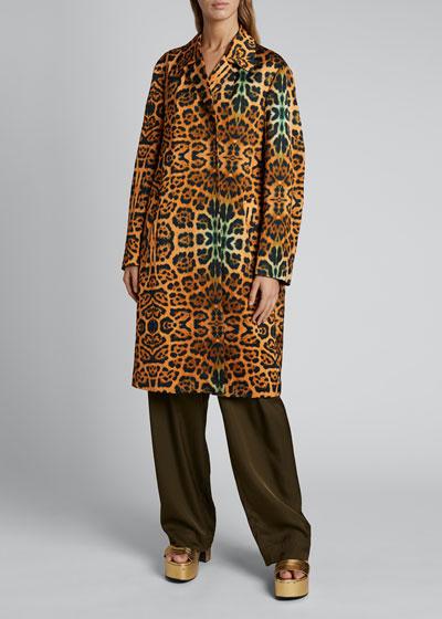 Rolta Leopard Button Coat