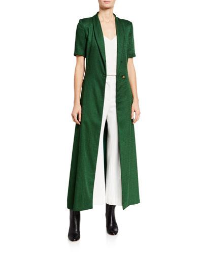 Short-Sleeve Jacket Dress